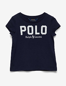 Polo Cotton Jersey Tee - logo - french navy