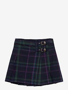 Plaid Twill Kilt Skirt - skirts - navy multi