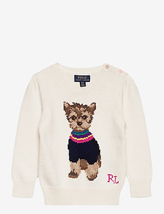 COTTON WOOL BLEND-DOG SWEATER-TP-SW - knitwear - clubhouse cream