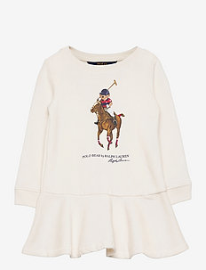 Polo Bear Cotton Fleece Dress - kleider - nevis