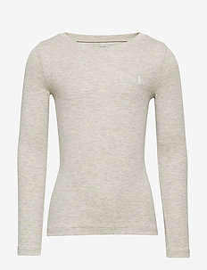 Cotton-Modal Long-Sleeve Tee - LIGHT SPORT HEATH