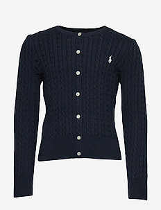 Mini-Cable Cotton Cardigan - gebreide vesten - hunter navy