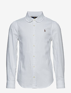 Scalloped Cotton Oxford Shirt - WHITE