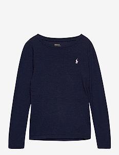 PIMA MODAL-LS CN TEE-TP-KNT - långärmade t-shirts - french navy