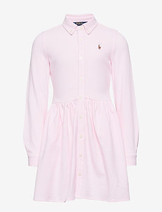 OXFORD DRESS-DRESSES-KNIT - CARMEL PINK/WHITE
