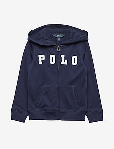 ATLANTIC TERRY-POLO ZIP UP-TP-KNT - FRENCH NAVY