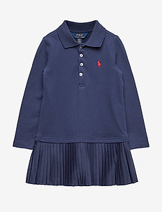 STRETCH MESH-PLEAT POLO D-DR-KNT - FRENCH NAVY