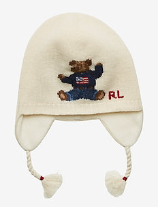 BEAR EARFLAP-APPAREL ACCESSORIES-HAT - CREAM