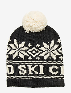 ACRYLIC WOOL BLEND-POLO SKI CAM-AC- - hats - polo black