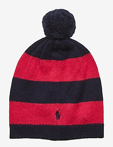 STRIPE HAT-APPAREL ACCESSORIES-HAT - RL NAVY/SPORT PIN