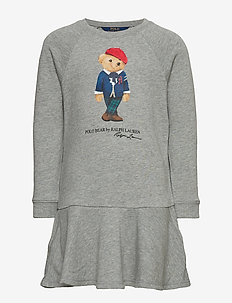 FA BEAR DR-DRESSES-KNIT - LT GREY HEATHER