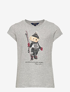 SKI BEAR TEE-TOPS-KNIT - LT GREY HEATHER