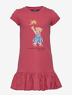40S/1 ENZYME COTTON-SS BEAR DRES-DR - sukienki - nantucket red