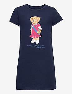 Polo Bear Cotton Jersey Tee Dress - dresses - newport navy