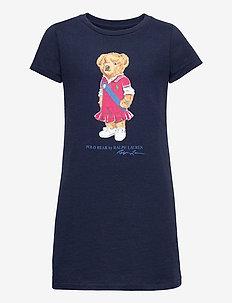 Polo Bear Cotton Jersey Tee Dress - robes - newport navy