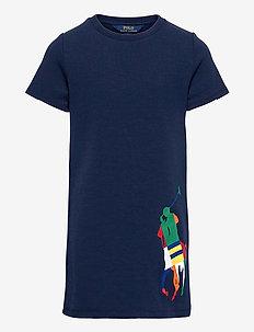 Big Pony Double-Knit Tee Dress - kleider - french navy