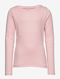 LS TEE-TOPS-KNIT - HINT OF PINK