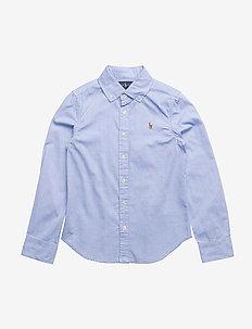 Cotton Oxford Shirt - BLUE HYACINTH