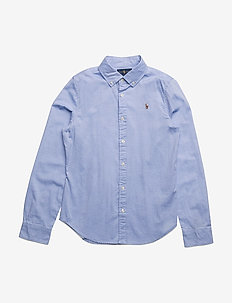 LS OXFORD-TOPS-SHIRT - BLUE HYACINTH