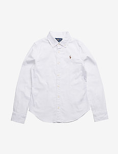LS OXFORD-TOPS-SHIRT - WHITE