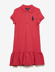Big Pony Mesh Polo Dress - NANTUCKET RED