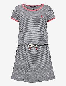 COTTON JERSEY-TSHIRT DRESS-DR-KNT - robes - summer navy/deckw