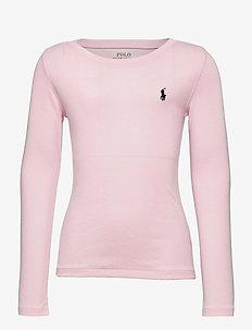 PIMA MODAL-LS CN TEE-TP-KNT - långärmade t-shirts - hint of pink/fren