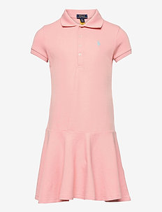 STRETCH MESH-SS POLO DRES-DR-KNT - dresses - deco coral
