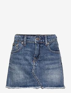 Denim 5-Pocket Skirt - jupes - bales wash