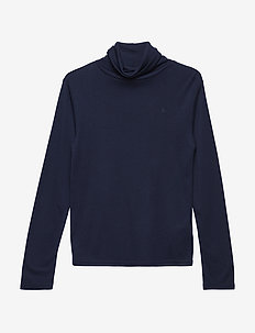 Cotton-Modal Turtleneck - manches longues - french navy