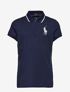 Wimbledon Ball Girl Mesh Polo - FRENCH NAVY