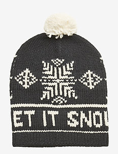 WOOL BLEND-SNOWFLAKE-AC-HAT - POLO BLACK