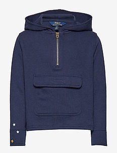 French Terry Half-Zip Hoodie - FRENCH NAVY