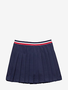 Pleated Ponte Skirt - FRENCH NAVY