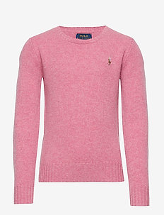 WOOL CREW-TOPS-SWEATER - WINE ROSE HEATHER