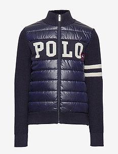 Hybrid Full-Zip Sweater - RL NAVY