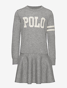 POLO SW DRES-DRESSES-SWEATER - GREY HEATHER