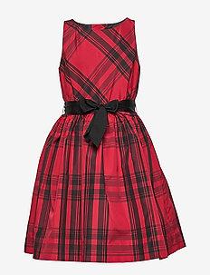 Plaid Taffeta Dress - RED AND BLACK