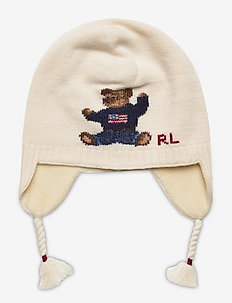 Bear Cotton Earflap Hat - hats - ivory