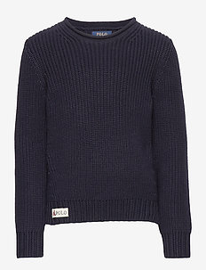 Rollneck Cotton Sweater - RL NAVY