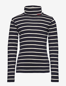 Cotton-Modal Turtleneck - langermede t-skjorter - hunter navy/clubh