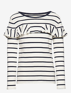 YD STRIPE COTTON MO-STRP RUF YOK-TP - CLUBHOUSE CREAM/H