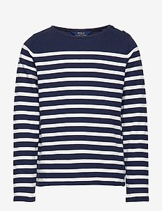 Striped Cotton Jersey Top - FRENCH NAVY/CLUBH