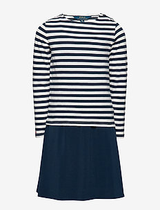 Layered Jersey Dress & Tee - HUNTER NAVY