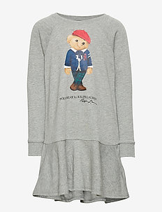 Bear Cotton-Blend Terry Dress - LT GREY HEATHER
