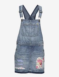 Cotton Denim Overall Dress - TYLER WASH