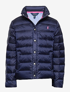 Packable Quilted Down Jacket - puffer & padded - french navy