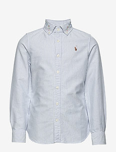 Floral Cotton Oxford Shirt - BLUE-WHITE