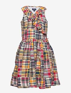 COTTON PATCHWORK-SUM WRAP DR-DR-WVN - sukienki - patchwork spring