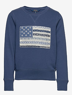 Flag French Terry Pullover - sweat-shirt - federal blue